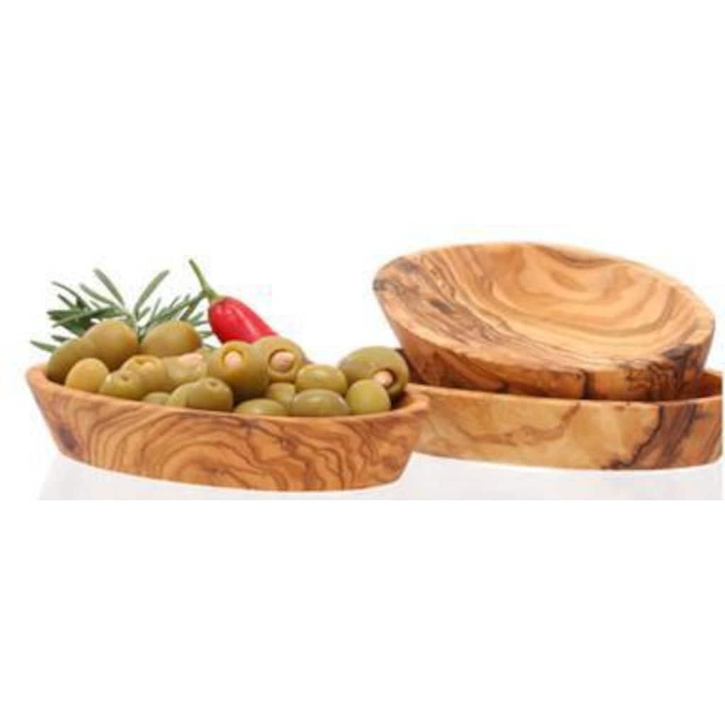 Olivenholz-erleben Dipschale, Olivenholz