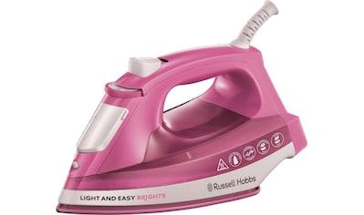 RUSSELL HOBBS Dampfbügeleisen Light & Easy Brights Rose 25760 - 56, 2400 Watt, mit antihaftversiegelter farbiger Keramik - Bügelsohle, 2400 Watt kaufen
