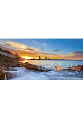 Home affaire Glasbild »Palo ok: Sonnenuntergangszeit am Hua - Hin Strand in Thailand« kaufen