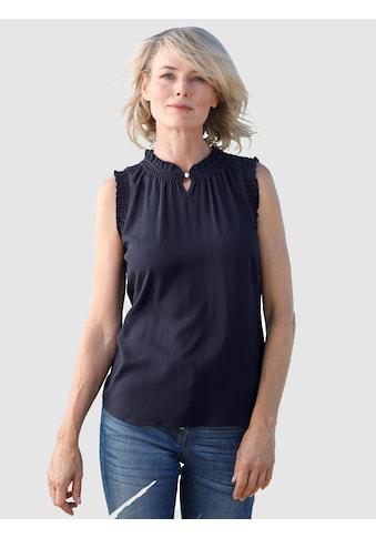 Dress In Blusentop, mit Rüschendetails kaufen