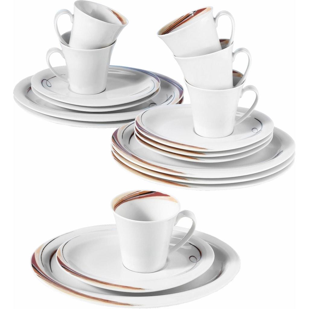 Seltmann Weiden Kaffeeservice »Top Life Aruba«, (Set, 18 tlg.), Mikrowellengeeignet