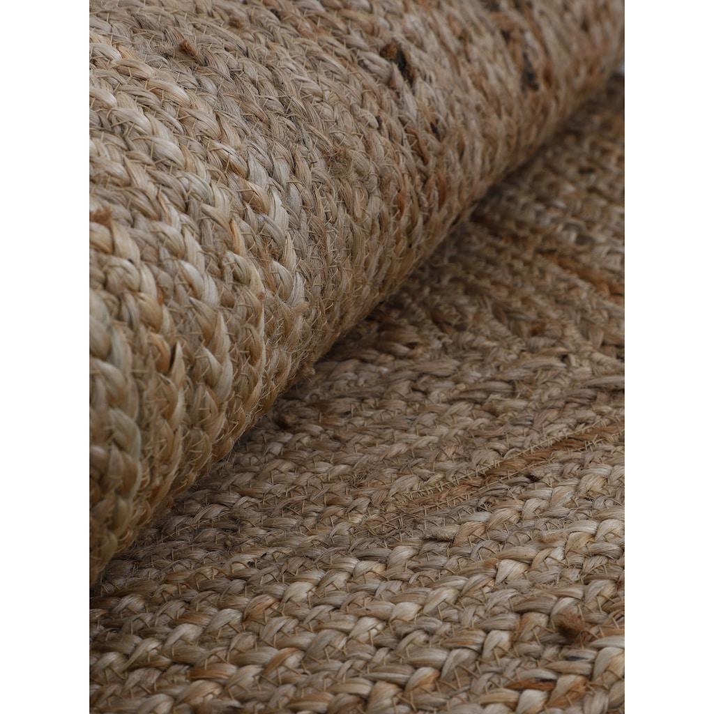 carpetfine Teppich »Nele«, rechteckig, 6 mm Höhe, Wendeteppich 100% Jute, Wohnzimmer