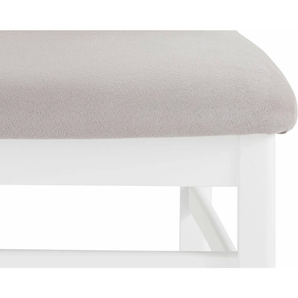 DELAVITA 4-Fußstuhl »Franz«, Bezug aus strapazierfähiger Microfaser, Gestell Buche Massivholz lackiert