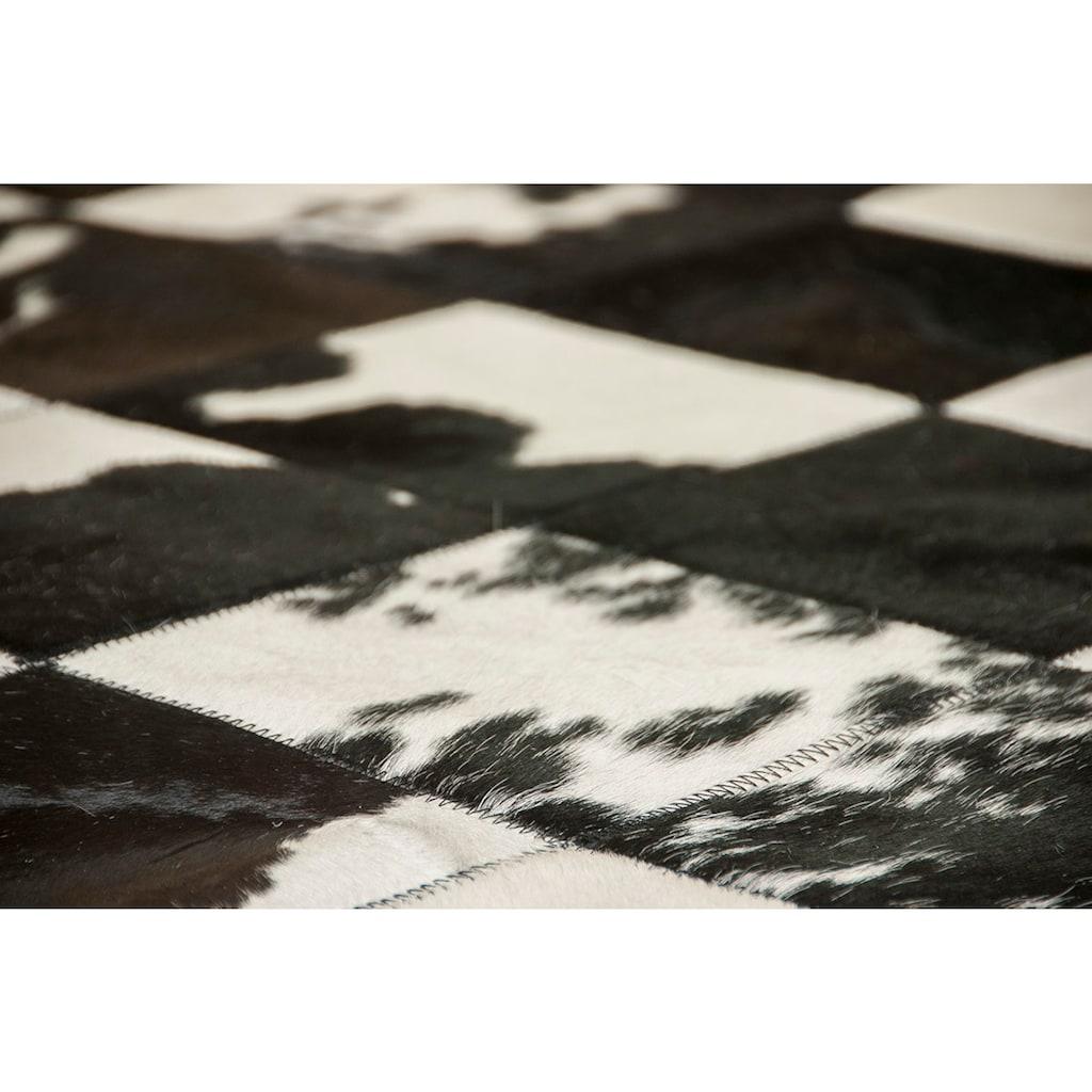 Trendline Fellteppich »Barcelona«, rechteckig, 3 mm Höhe, Patchwork, handgenäht, echtes Rinderfell, Wohnzimmer