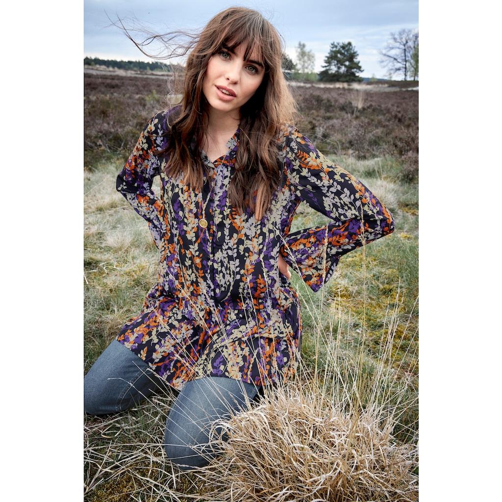 Aniston CASUAL Longbluse, mit Rüschen und Volant verziert - NEUE KOLLEKTION