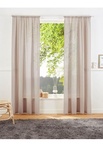 LeGer Home by Lena Gercke Vorhang »Lanea«, Leinenoptik, halbtransparent kaufen