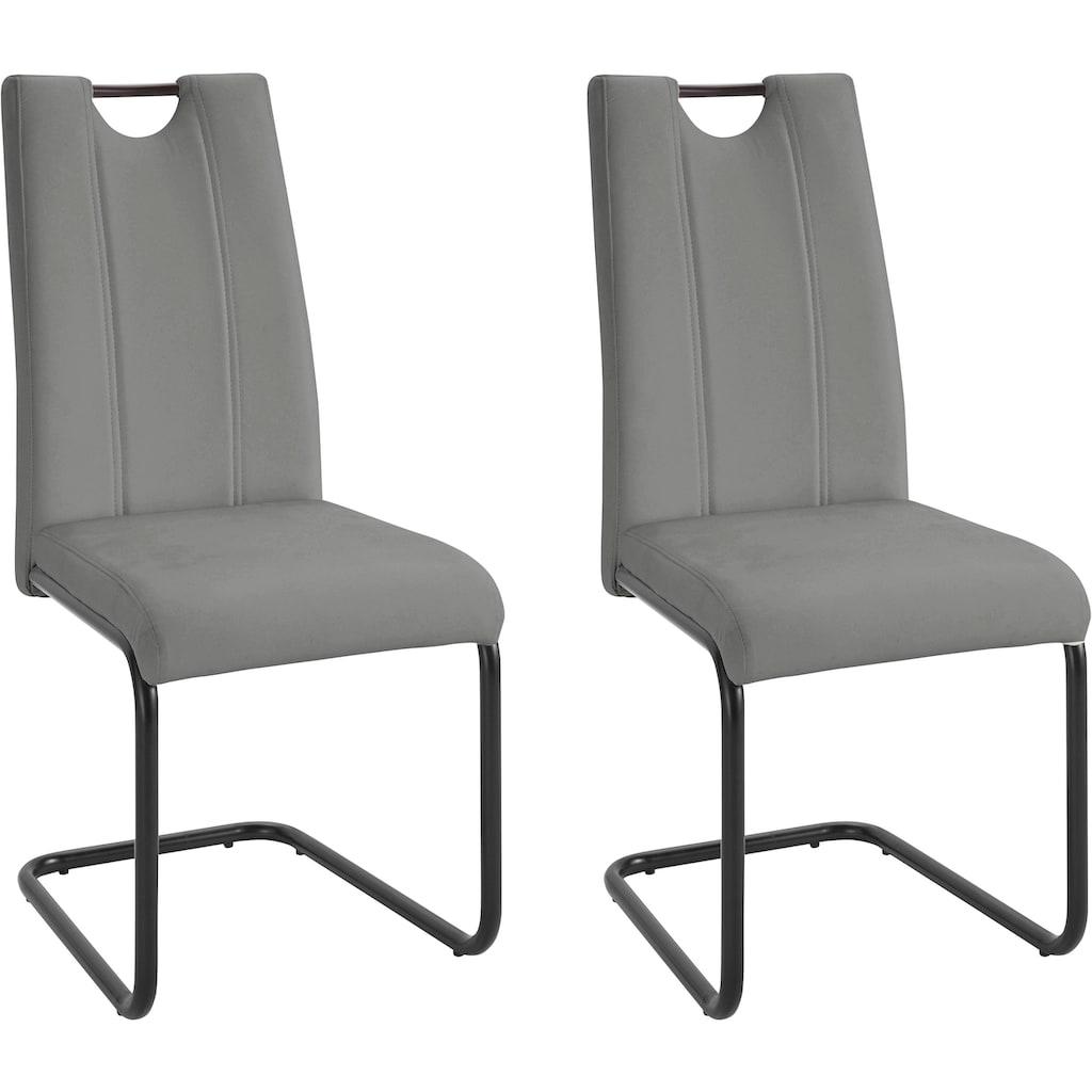 Freischwinger »Linea«, (2 oder 4 Stück) mit Kunstlederbezug, Rückenlehne mit Griff zum einfachen Zurückziehen
