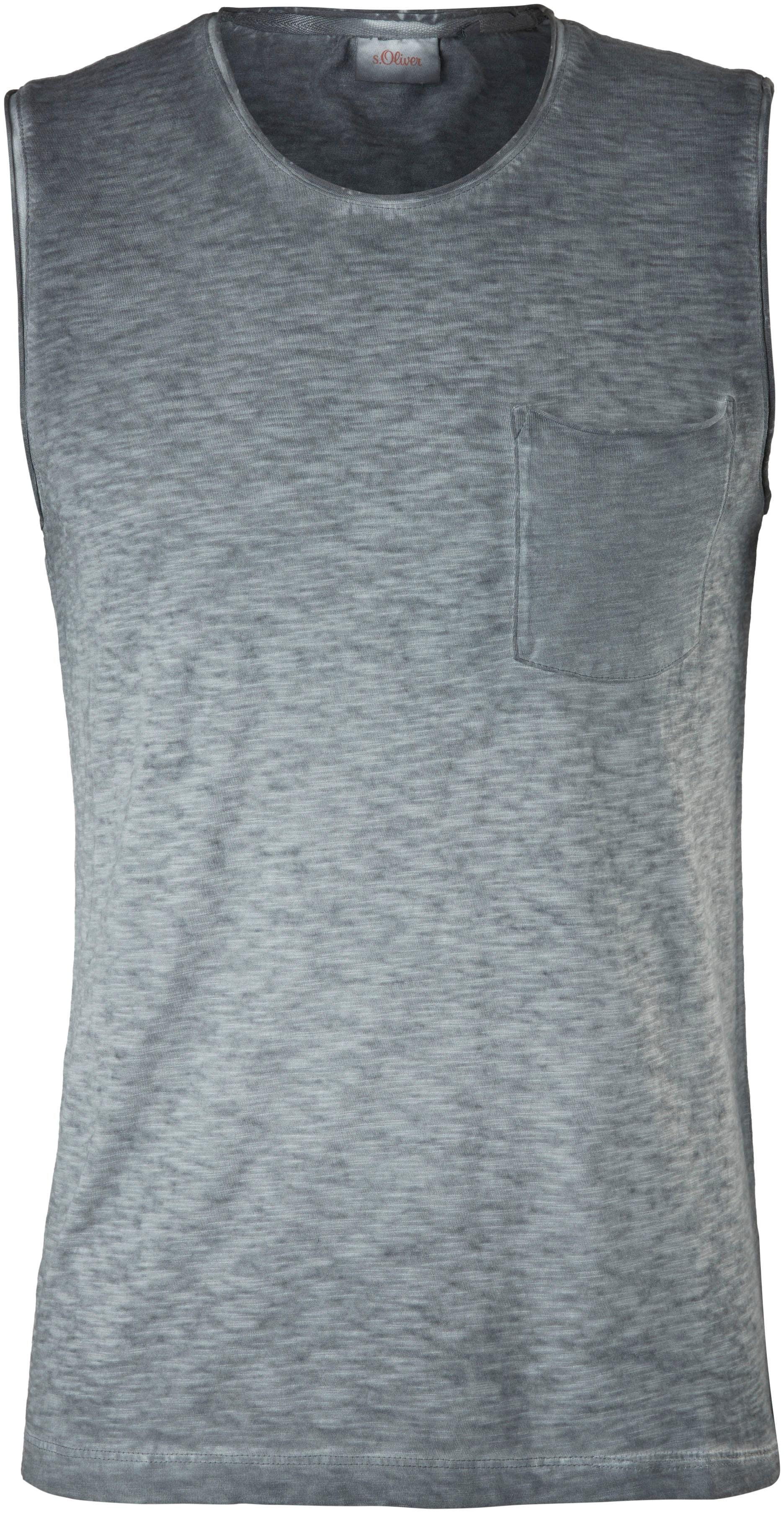 s.Oliver Muskelshirt, ohne Ärmel grau Herren Muskelshirts Shirts Muskelshirt