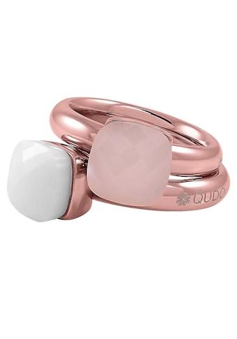 qudo Ring-Set »Firenze big, O600077, O600078, O600079, O600080, O600081«, (Set, 2 tlg.), mit Zirkonia kaufen