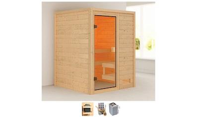 Karibu Sauna »Sandy«, 4,5-kW-Ofen mit int. Steuerung kaufen