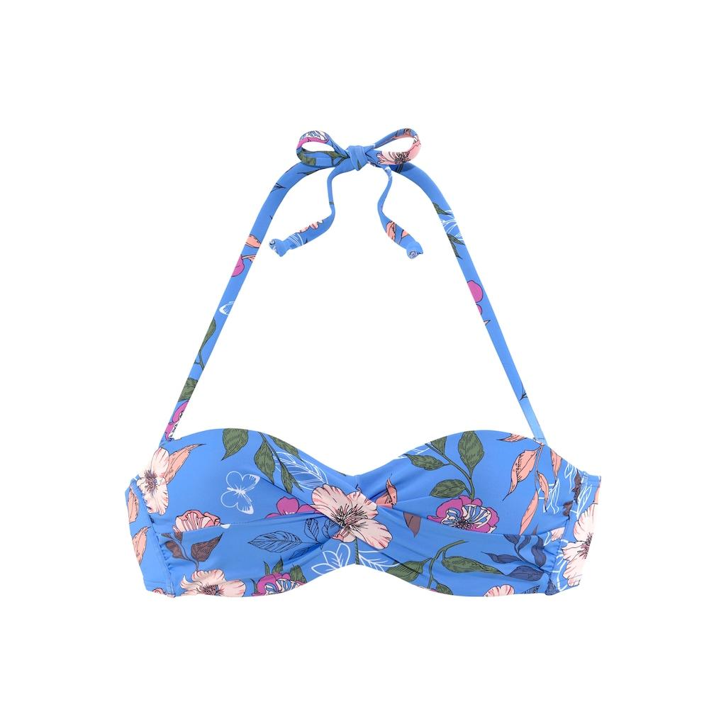 s.Oliver Bügel-Bandeau-Bikini-Top »Maya«, mit floralem Design und Wickel-Optik