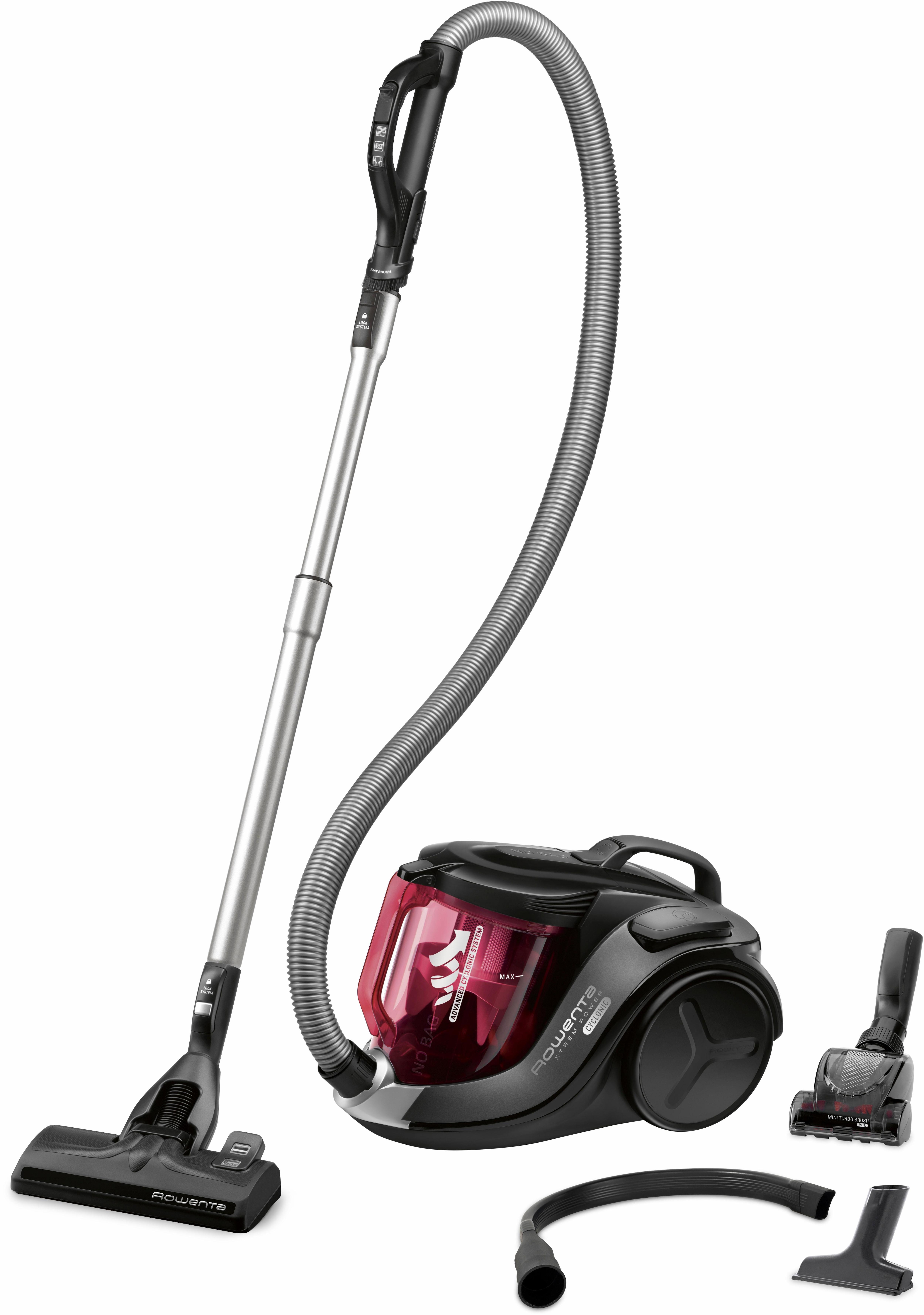 Rowenta Bodenstaubsauger RO6963EA 750 Watt beutellos | Flur & Diele > Haushaltsgeräte > Staubsauger | Rot | Rowenta