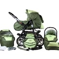 bergsteiger Kombi-Kinderwagen »Milano, dark green, 3in1«, 15 kg, Made in Europe; Kinderwagen