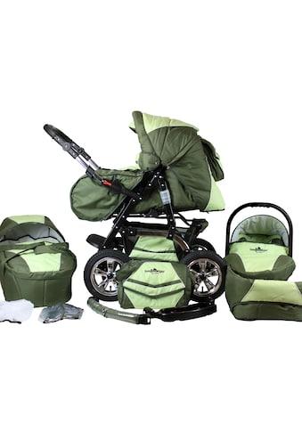 bergsteiger Kombi-Kinderwagen »Milano, dark green, 3in1«, 15 kg, Made in Europe kaufen