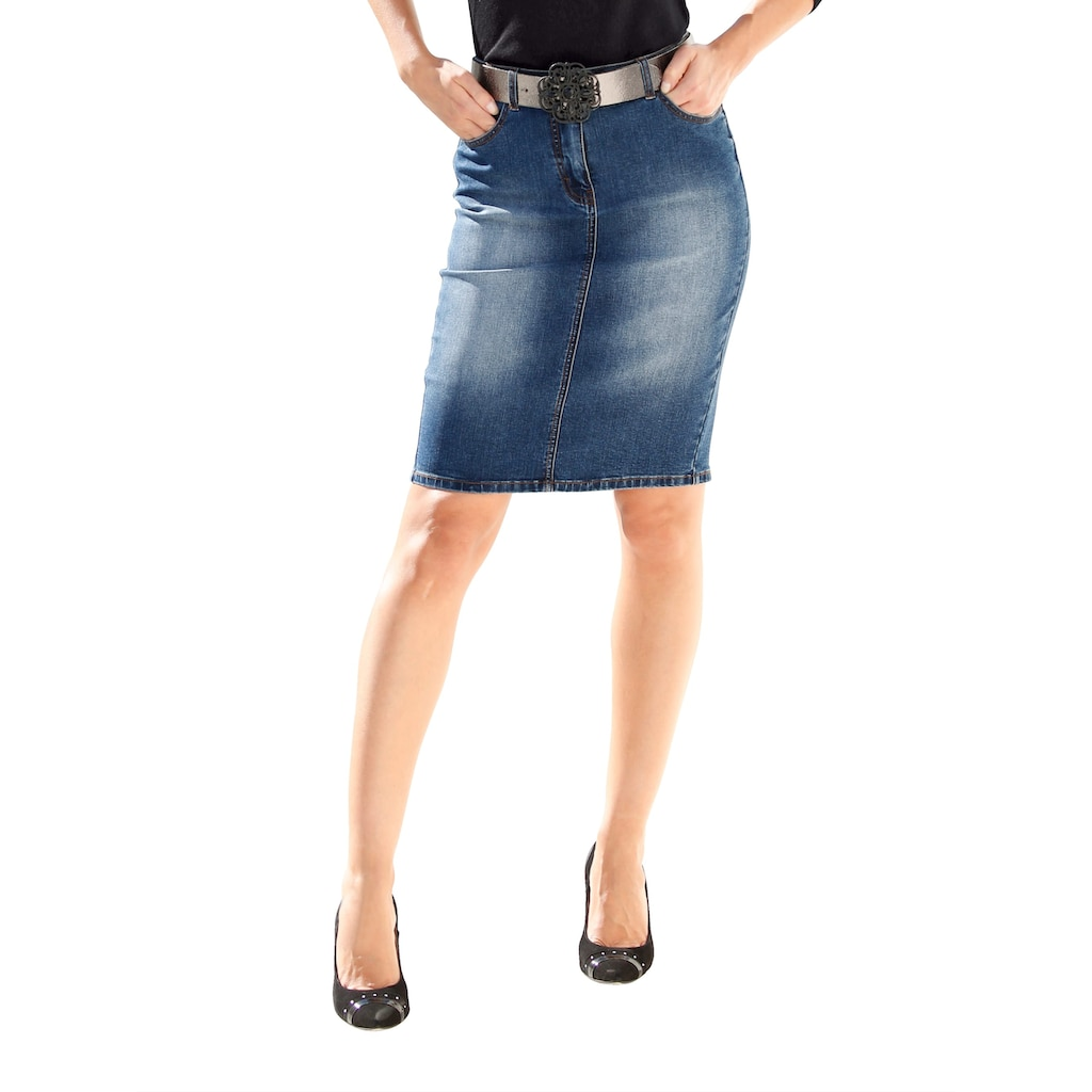 Amy Vermont Jeansrock in 5-Pocket-Form