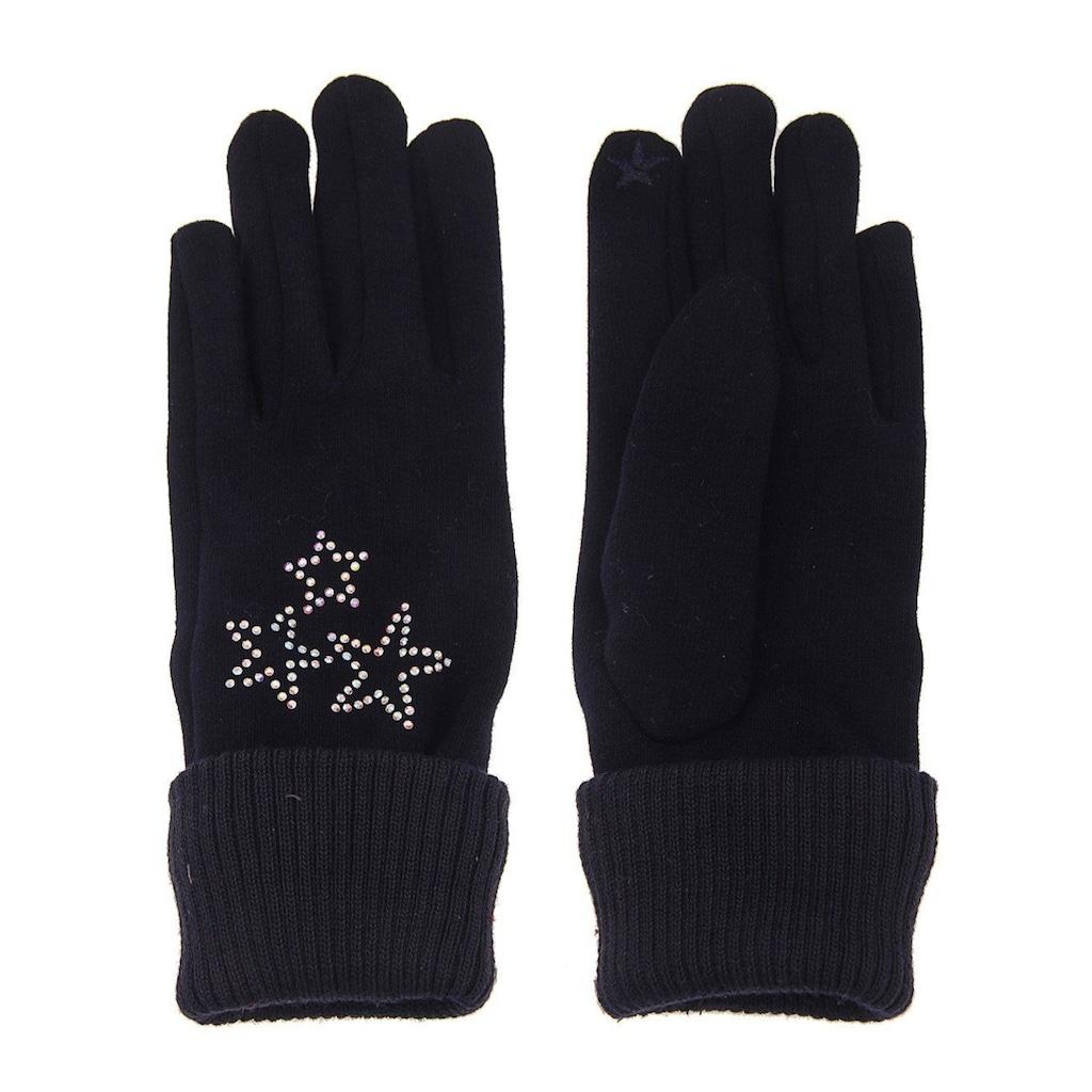 leslii Fingerhandschuhe mit glitzernden Sternen