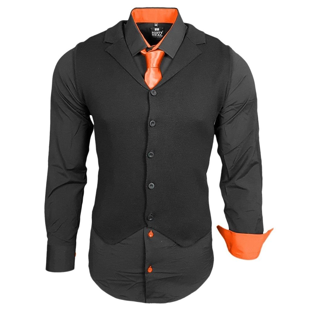 Rusty Neal Hemdenset bestehend aus Hemd, Weste und Krawatte