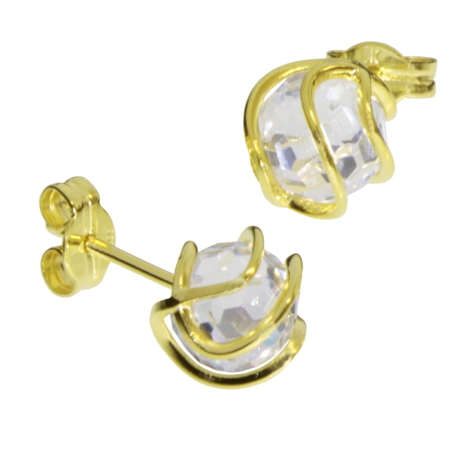 OSTSEE-SCHMUCK Paar Ohrstecker Goldkäfig Gold 333/000 Zirkonia | Schmuck > Ohrschmuck & Ohrringe | Ostsee-Schmuck