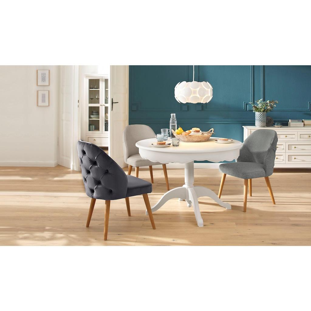 Home affaire 4-Fußstuhl »Desna«, in drei verschiedenen Farben und toller Holzoptik, Sitzhöhe 46 cm