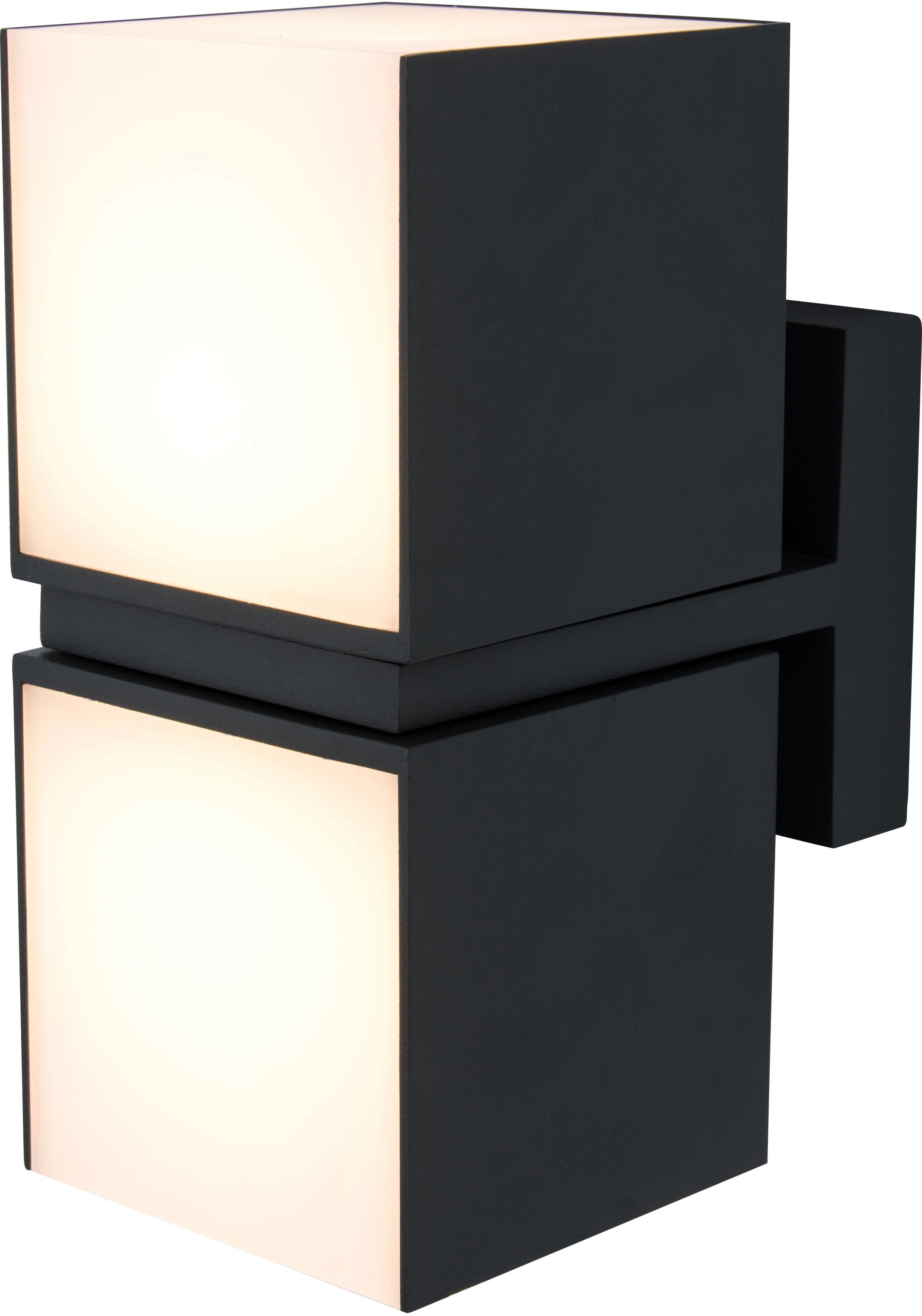 LUTEC LED Außen-Wandleuchte CUBA 5193801012, LED-Modul, 1 St., Warmweiß