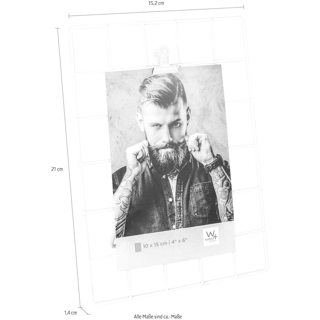 Walther Wanddekoobjekt »Rod«, Fotohalter, Dekogestell, Metallgitter, für Bildformate 13x18 cm