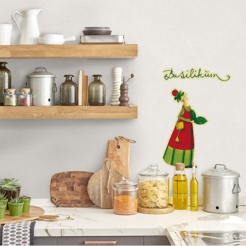 Wall-Art Wandtattoo »Kräuterfrau Küche Basilikum«