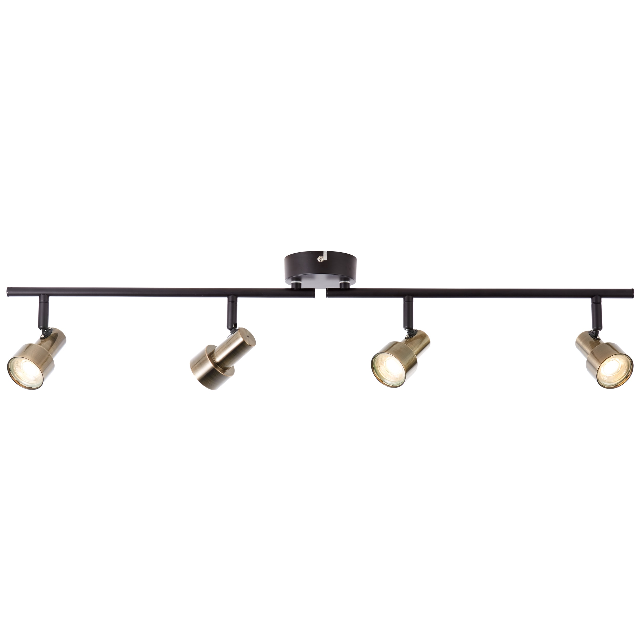 Brilliant Leuchten Croyden LED Spotrohr 4flg messing/schwarz