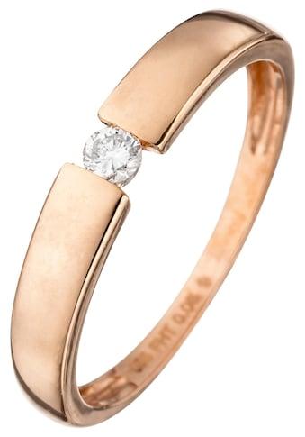 JOBO Solitärring, 585 Roségold mit Diamant 0,08 ct. kaufen