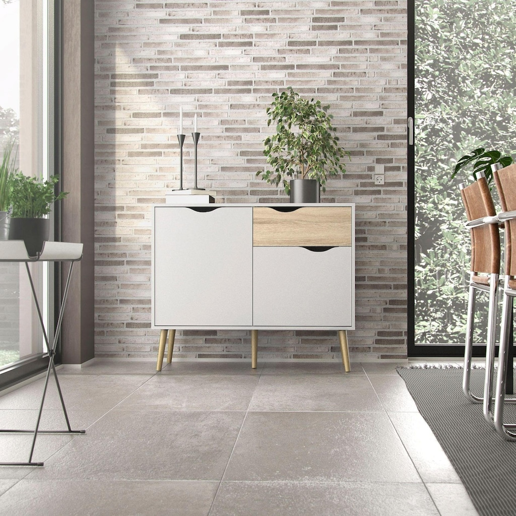 Home affaire Sideboard »OSLO«, mit vielen Stauraummöglichkeiten, inklusive Einlegeböden, grifflos