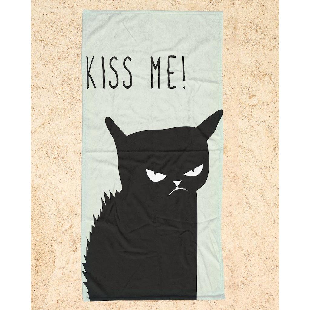 """Strandtuch """"Kiss Me Cat"""", Juniqe"""