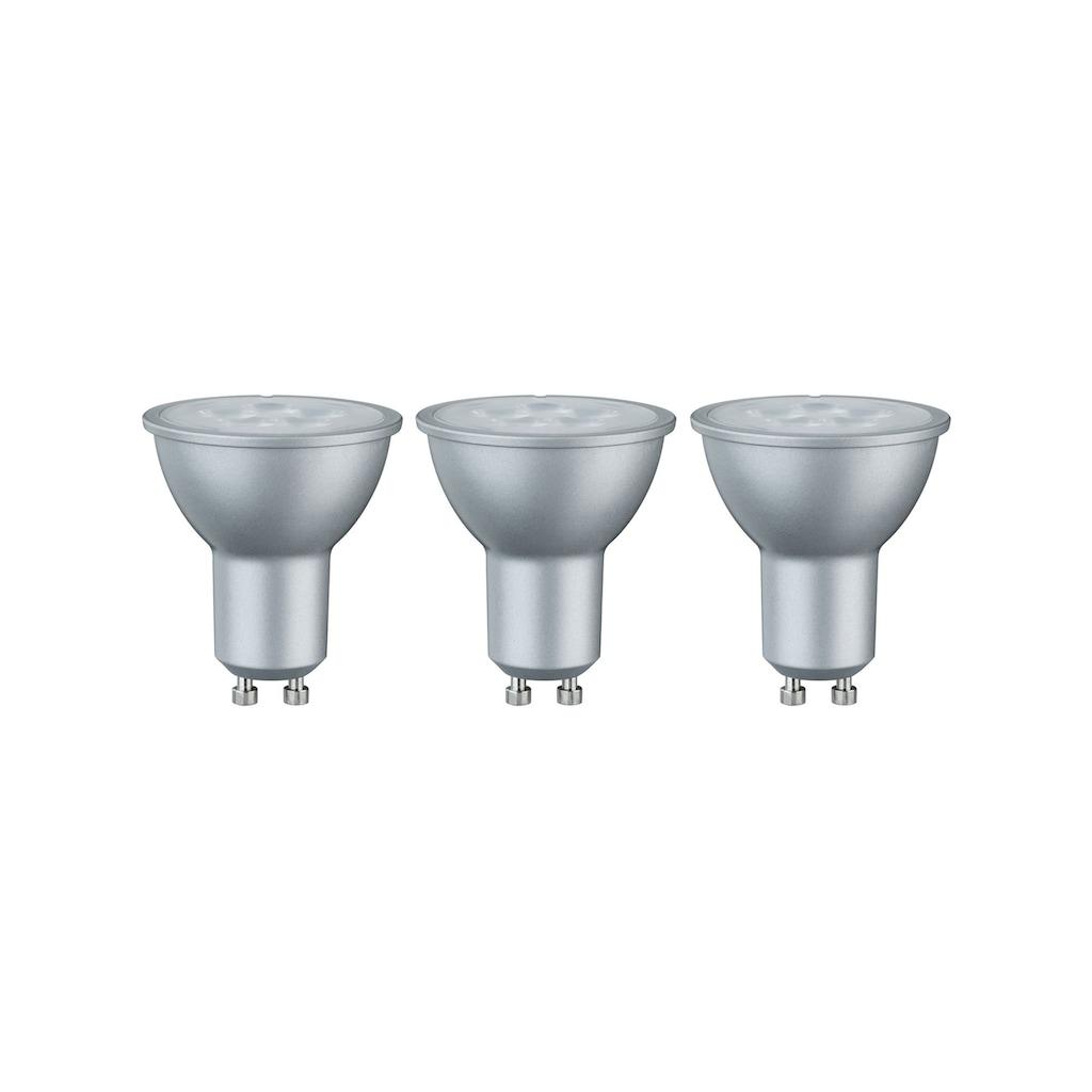 Paulmann LED-Leuchtmittel »Reflektor 6,5W GU10 230V Warmweiß 3er-Pack«, Warmweiß