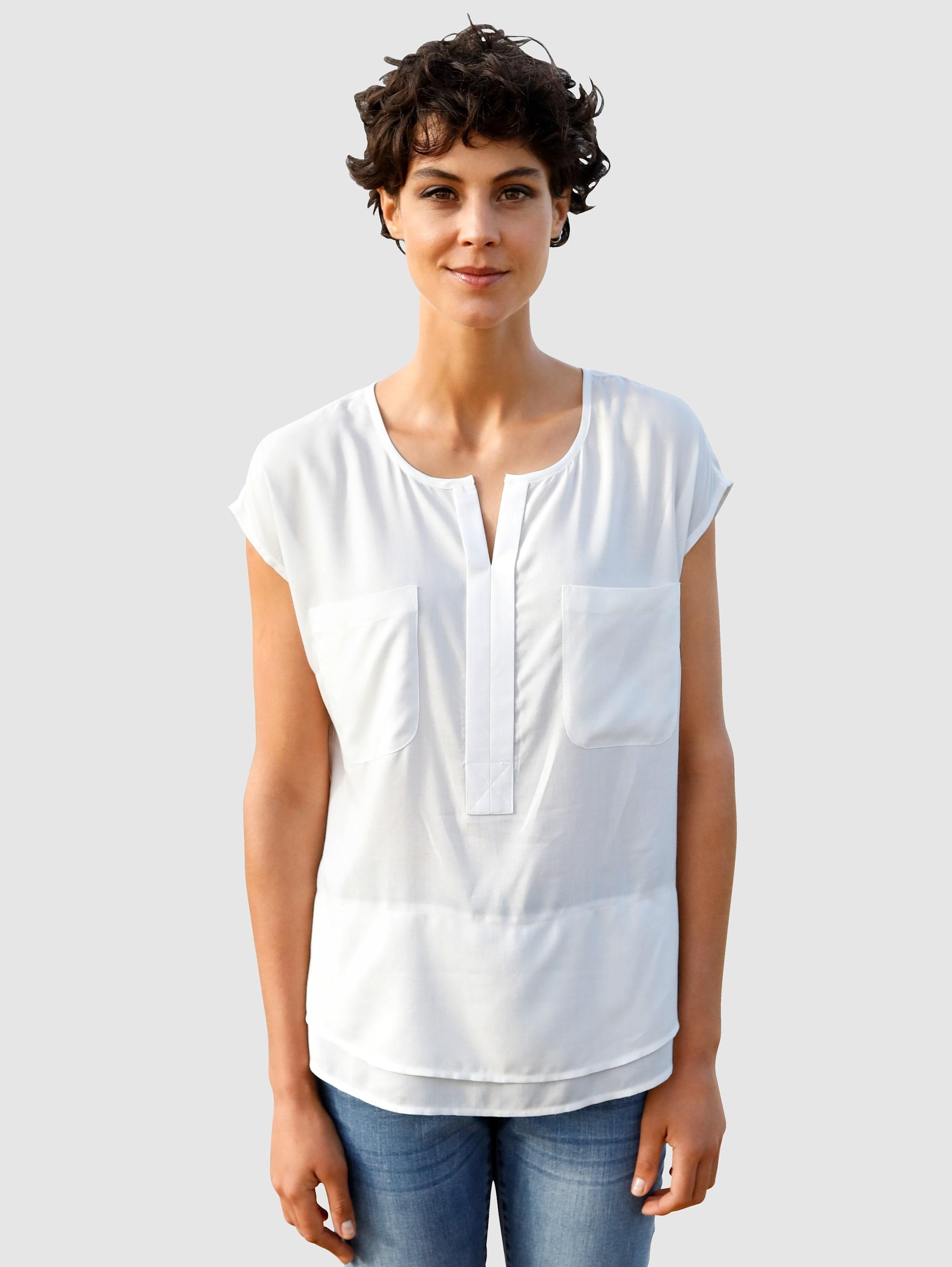 dress in -  Shirtbluse, in fließender Qualität