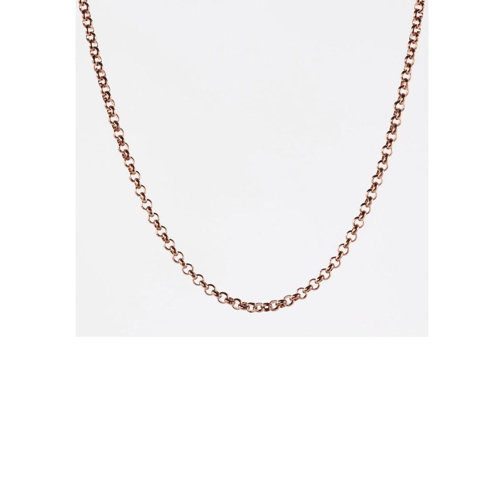 Firetti Edelstahlkette »Erbskettengliederung, 2,4 mm breit, roségoldfarben«, Made in Germany