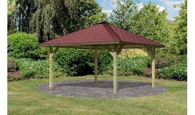 Karibu Pavillon »Holm 1«, (Set), BxT: 431x431 cm, inkl. Dachhaube, Dachschindeln und... kaufen