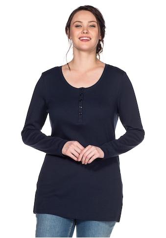 Sheego Langarmshirt, mit Serafinokragen kaufen