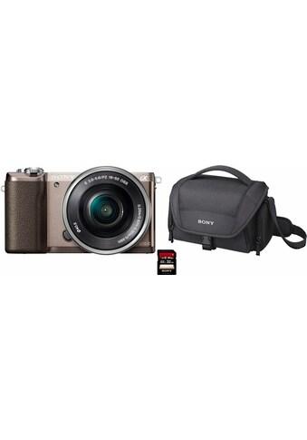 Sony »Alpha ILCE - 5100L« Systemkamera (24,3 MP, NFC WLAN (Wi - Fi), inkl. 16 - 50mm Objektiv) kaufen