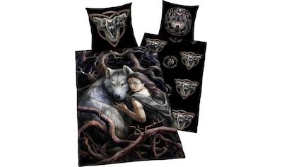 Anne Stokes Kinderbettwäsche »Anne Stokes«, mit Wolf und Frau kaufen