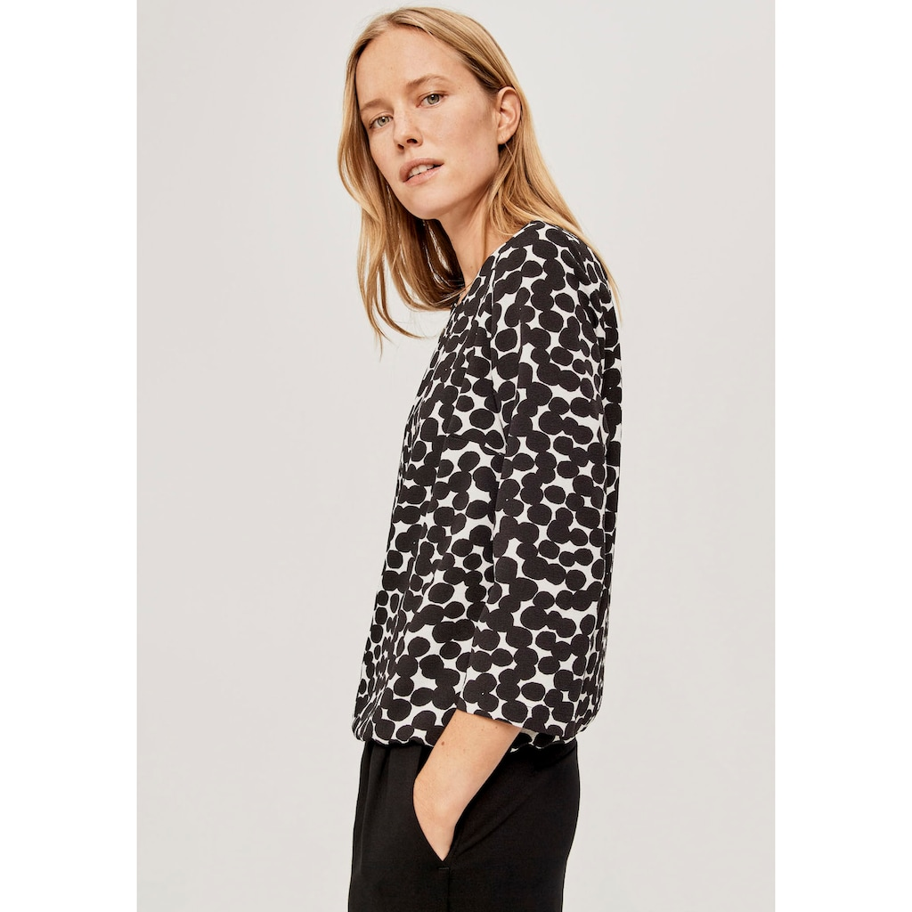 OPUS Druckbluse »Ferusa«, in Shirtform mit Punkten