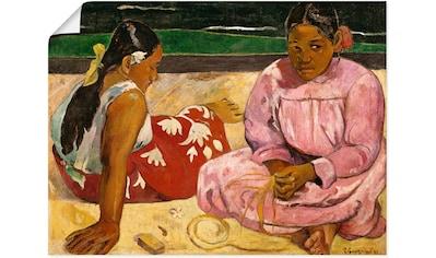 Artland Wandbild »Frauen von Tahiti (oder: Am Strand).1891« kaufen