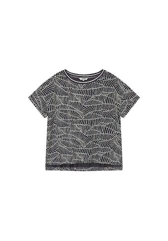 Sandwich T-Shirt, mit weitem Ausschnitt und natürlichem Print kaufen