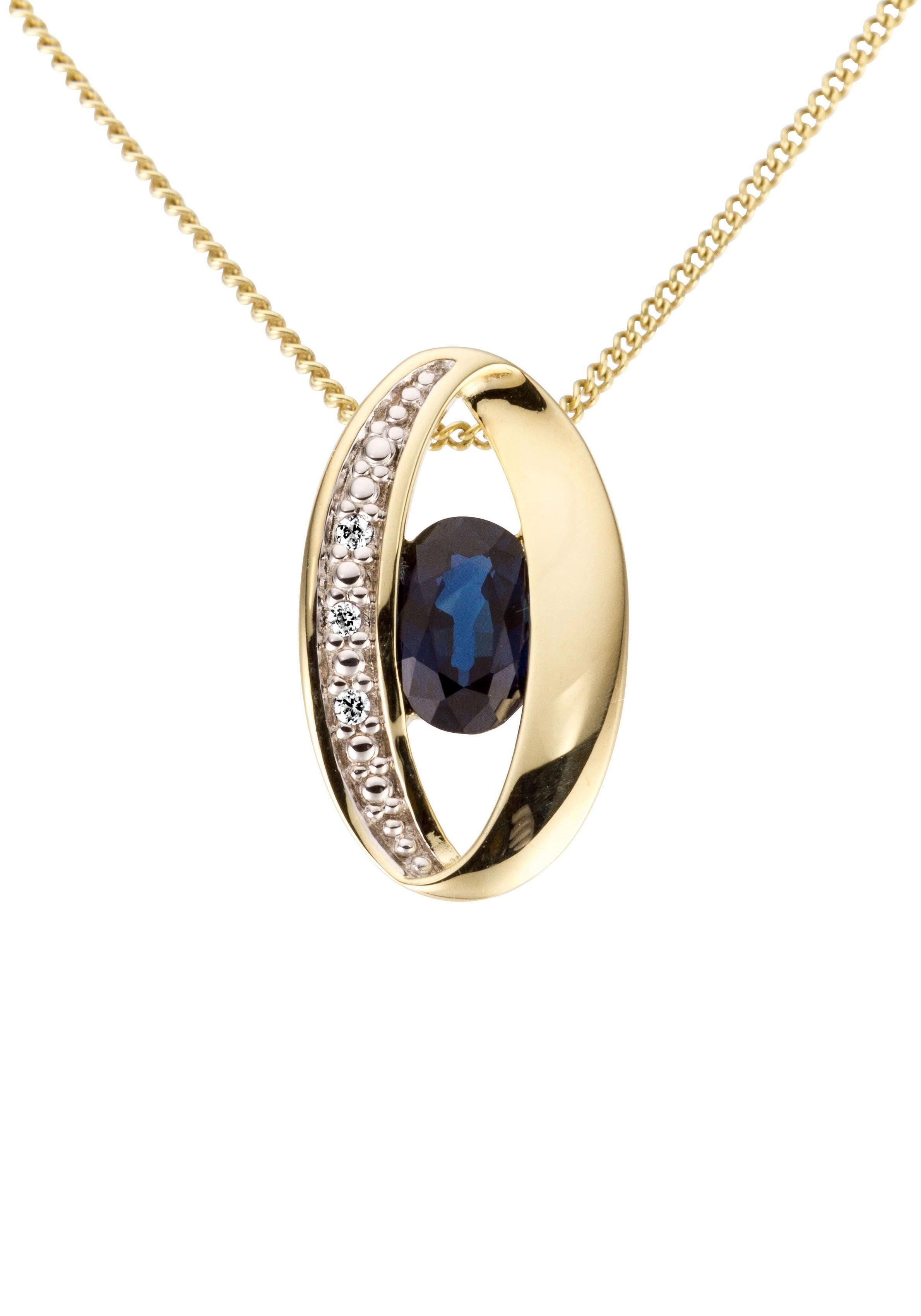 Firetti Kettenanhänger Oval glanz massiv | Schmuck > Halsketten > Kettenanhänger | Goldfarben | Firetti