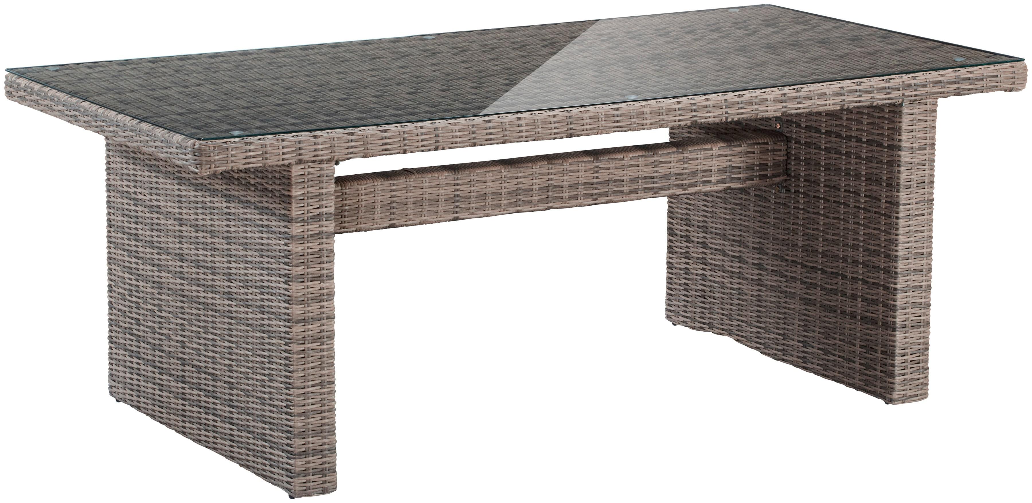 MERXX Gartentisch Riviera (B/L): ca 100x200 cm Polyrattan