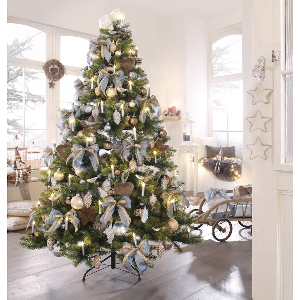 Thüringer Glasdesign Weihnachtsbaumkugel »Sky«, (Set, 40 St.)