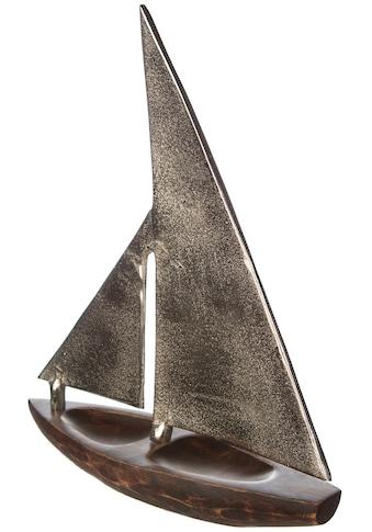 GILDE Dekoobjekt »Skulptur Segelboot Classic«, Höhe 53 cm, aus Metall und Holz,... kaufen