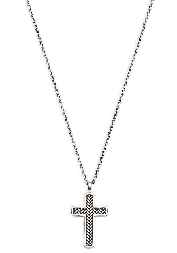 XENOX Kette mit Anhänger Silver Men Kreuz XS9307 | Schmuck > Halsketten > Ketten mit Anhänger | Xenox