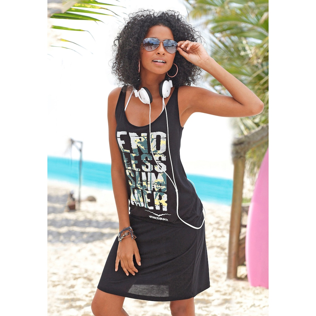 Venice Beach Strandkleid, mit Frontprint