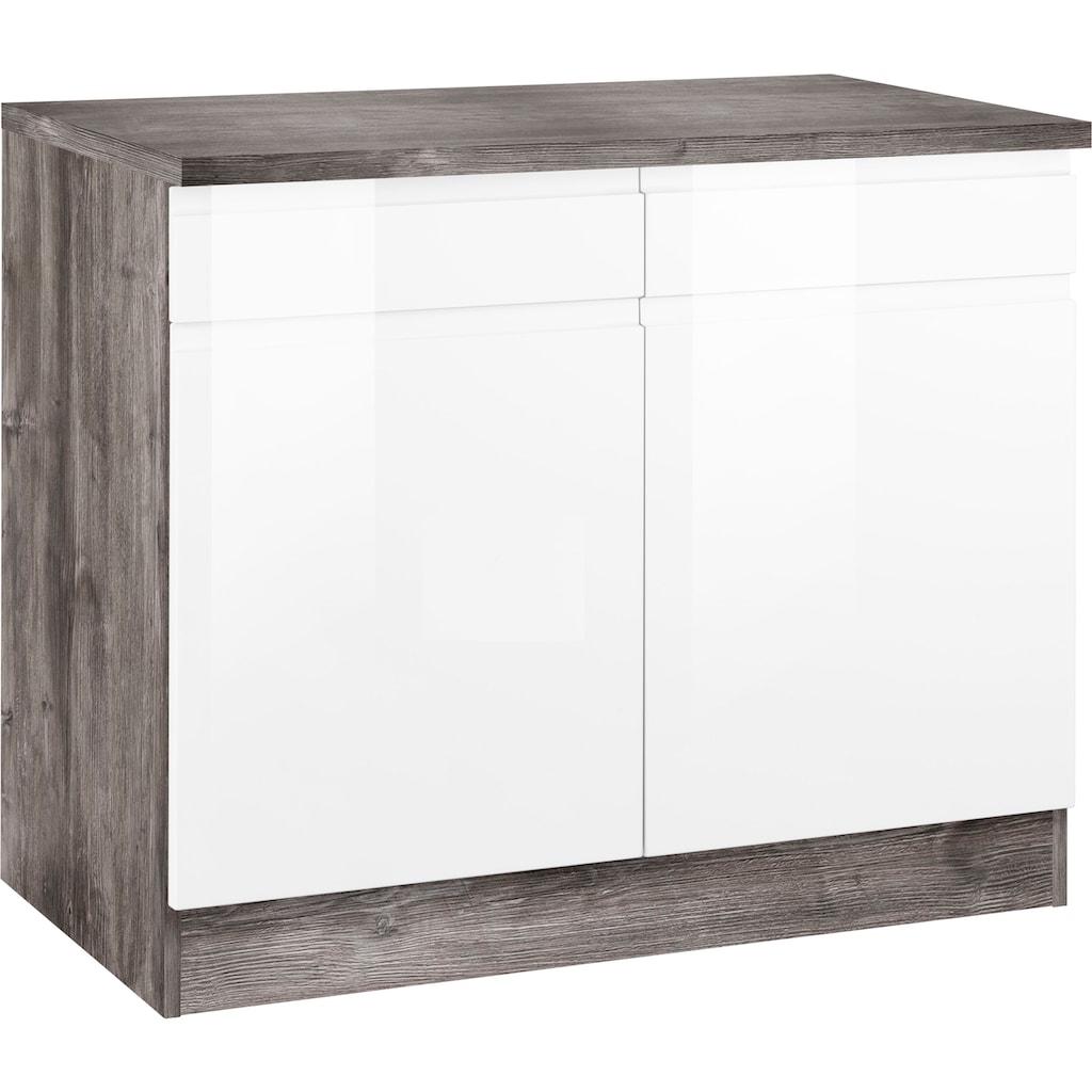 HELD MÖBEL Unterschrank »Virginia«, 100 cm breit, mit 2 Türen und 2 Schubkästen