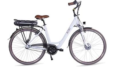 LLobe E - Bike »Metropolitan JOY modernwhite 10 Ah«, 3 Gang Nabenschaltung, Frontmotor 250 W (mit Akku - Ladegerät) kaufen