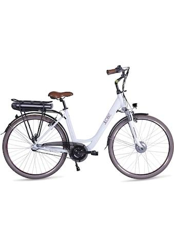 LLobe E-Bike »Metropolitan JOY modernwhite 10 Ah«, (mit Akku-Ladegerät) kaufen