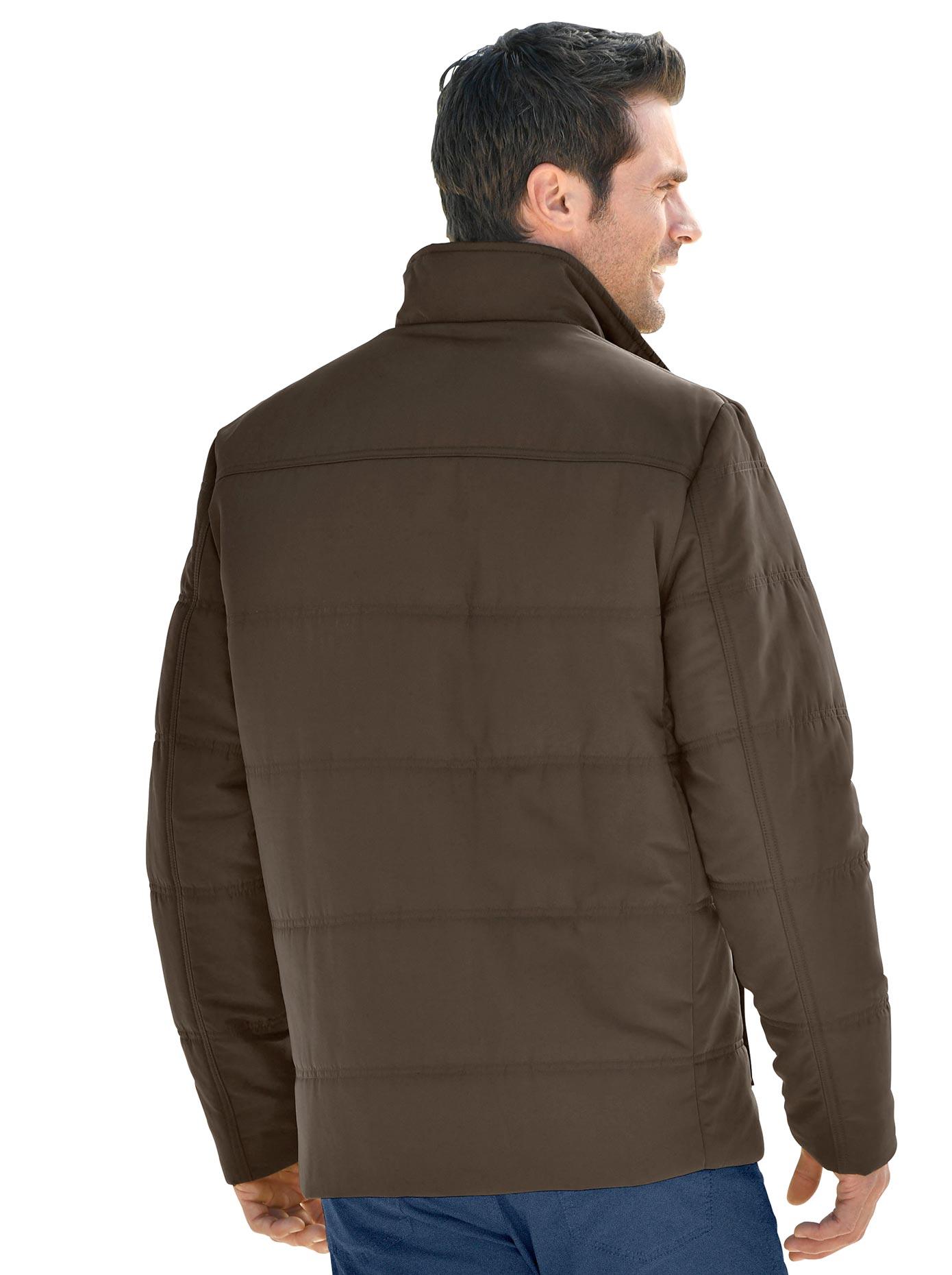 Marco Donati Longjacke mit Patch aus Leder-Imitat am Ärmel | Bekleidung > Jacken > Fieldjackets | marco donati